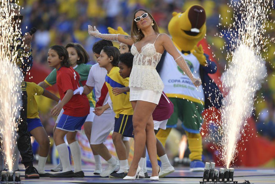 Brasil 2019: Anitta deslumbró en la ceremonia de clausura de Copa América