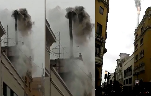 Centro de Lima: reportan incendio en pollería del Jirón de la Unión
