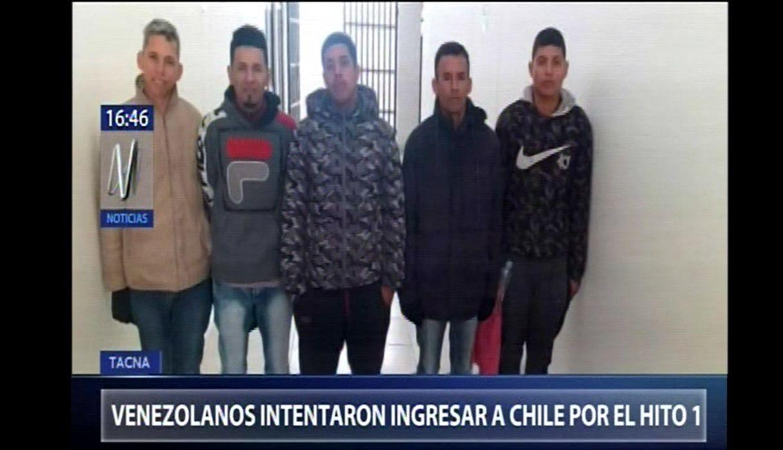 Tacna: intervienen a grupo de venezolanos que pretendía ingresar a Chile por zona minada