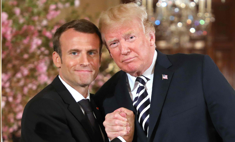 """Besos, abrazos y elogios: Macron y Trump mostraron al mundo su """"gran relación"""""""