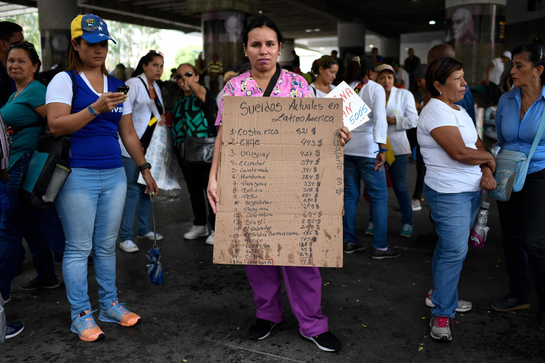 Protestas en Venezuela por la crisis. (AFP)