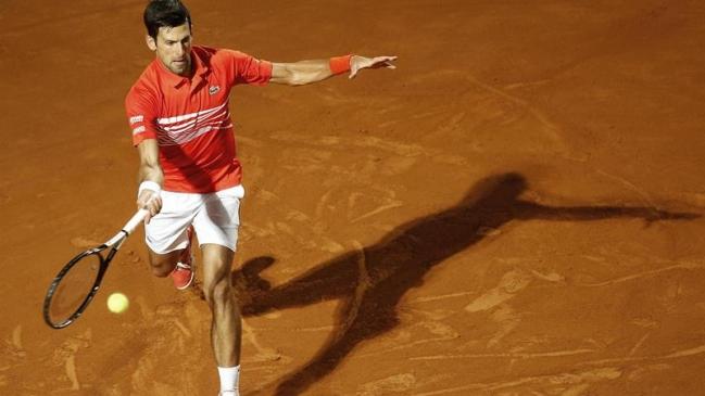 Novak Djokovic en el abierto de Madrid (Foto: EFE)