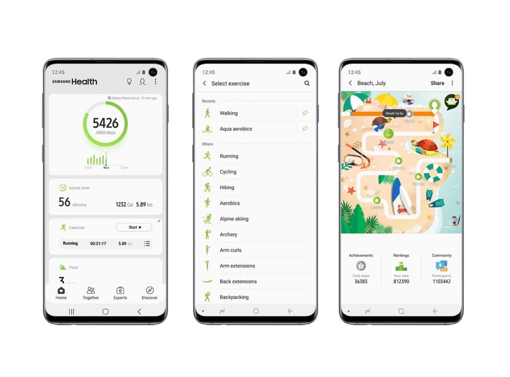 Samsung Health, un dispositivo para mantenerte en forma