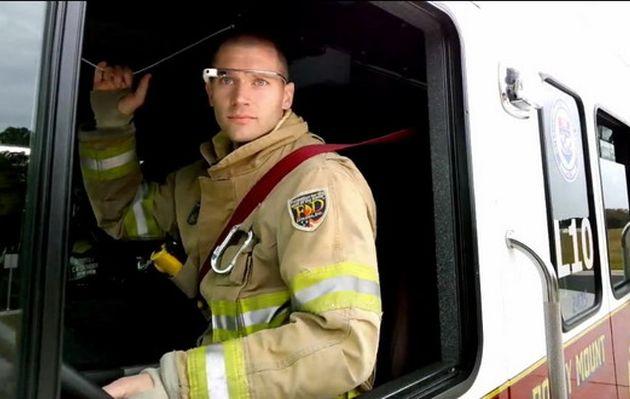 La lucha contra incendios con la ayuda de Google Glass