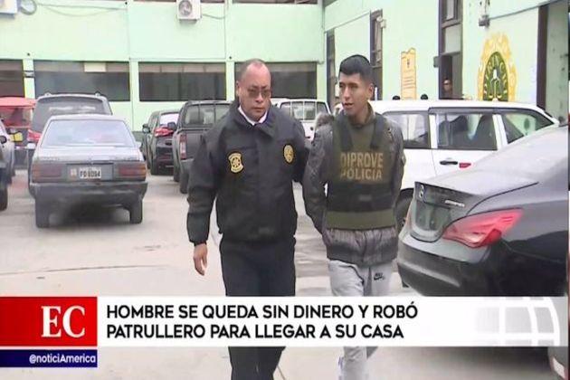 Callao: sujeto se roba vehículo del serenazgo de Lima y se va a su casa