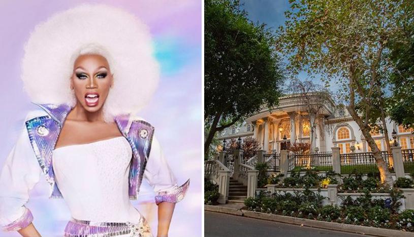 Recorre la extravagante mansión que compró RuPaul en Beverly Hills | FOTOS