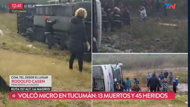 Argentina: accidente en autobús deja al menos 13 muertos