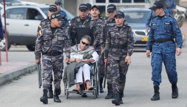 Jesús Santrich es trasladado de cárcel en un helicóptero de la Policía colombiana