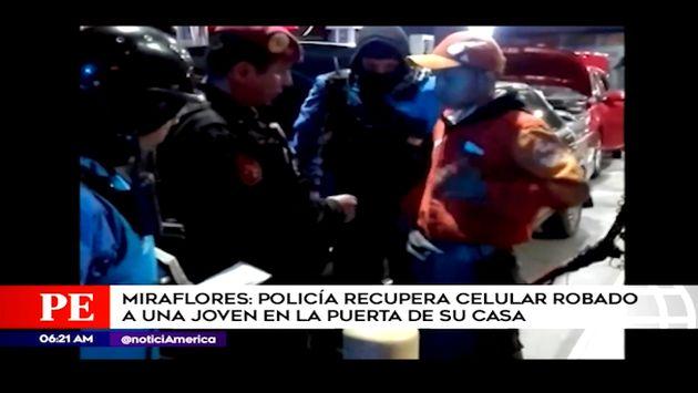 Miraflores: detienen a grifero tras comprar celular robado en San Luis | VIDEO