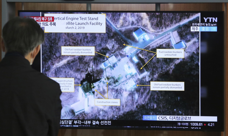 """Corea del Norte """"reconstruye"""" un sitio de lanzamiento de satélites"""