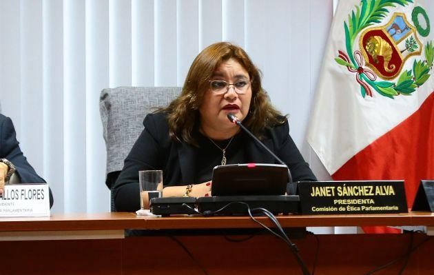 Janet Sánchez niega haber sido amenazada por Fuerza Popular: 'Me indignan estas prácticas'