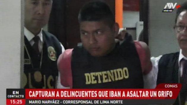 Policía captura a delincuentes antes que asalten un grifo de Comas