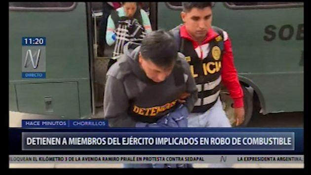 Chorrillos: detienen a miembros del Ejército implicados en robo de combustible | VIDEO