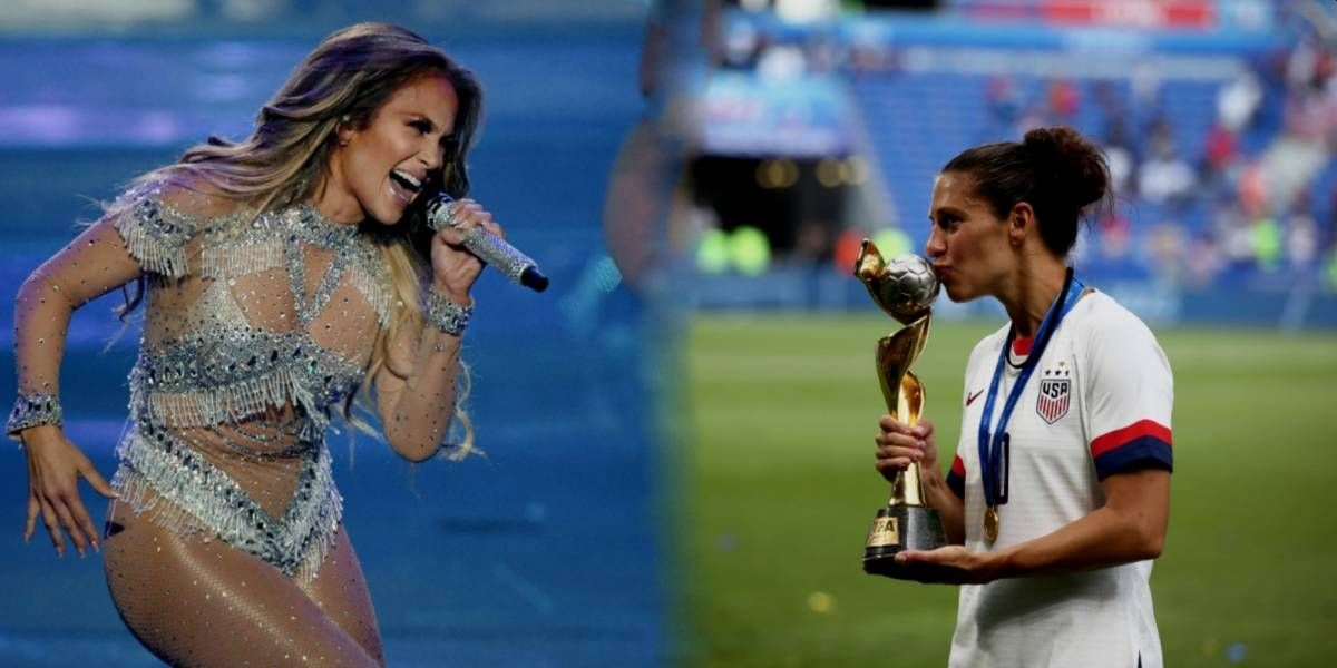 Jennifer López le dedicó sensual baile a campeona mundial de fútbol con EE.UU.