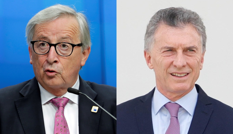 El presidente de la Comisión Europea, Jean-Claude Juncker, se reunirá con el mandatario de Argentina, Mauricio Macri. (Fotos: EFE)