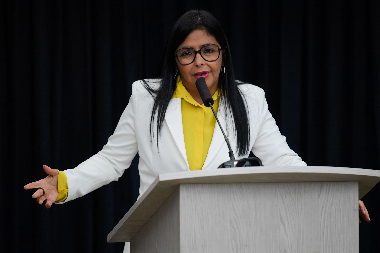 En la imagen, la vicepresidenta Delcy Rodríguez. (Foto: AFP)