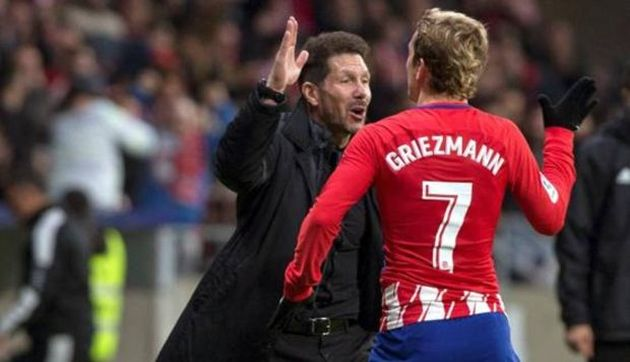 """Simeone desliza que Barcelona es """"posiblemente"""" el destino de Griezmann"""