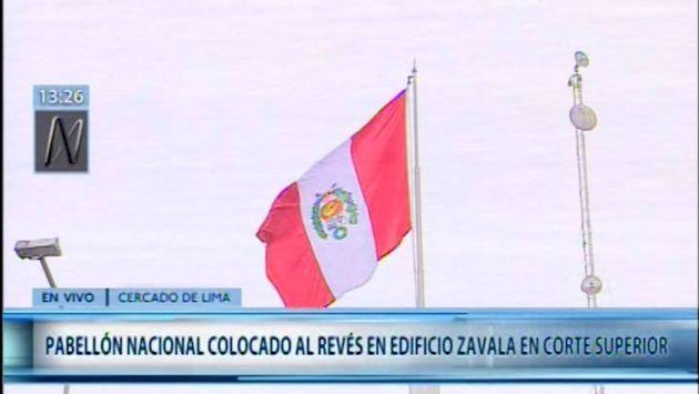 Corte Superior de Justicia ofrece disculpas por bandera nacional que fue izada al revés | VIDEO