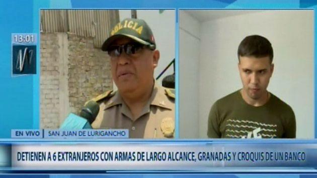 SJL: detienen a 6 venezolanos con armas de guerra y croquis de un banco | VIDEO