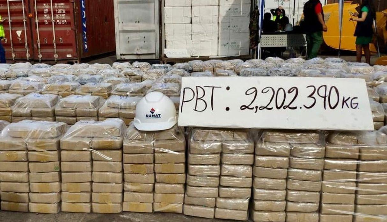 Callao: incautan más de dos toneladas de droga en un buque acoderado en el puerto