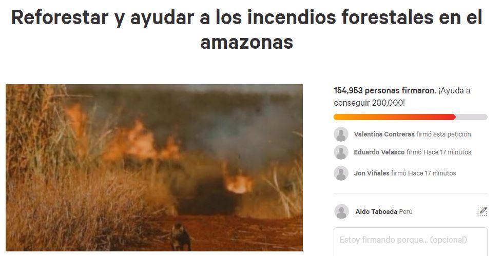 El incendio en la Amazonía ha generado la indignación del mundo. (Foto: Captura)