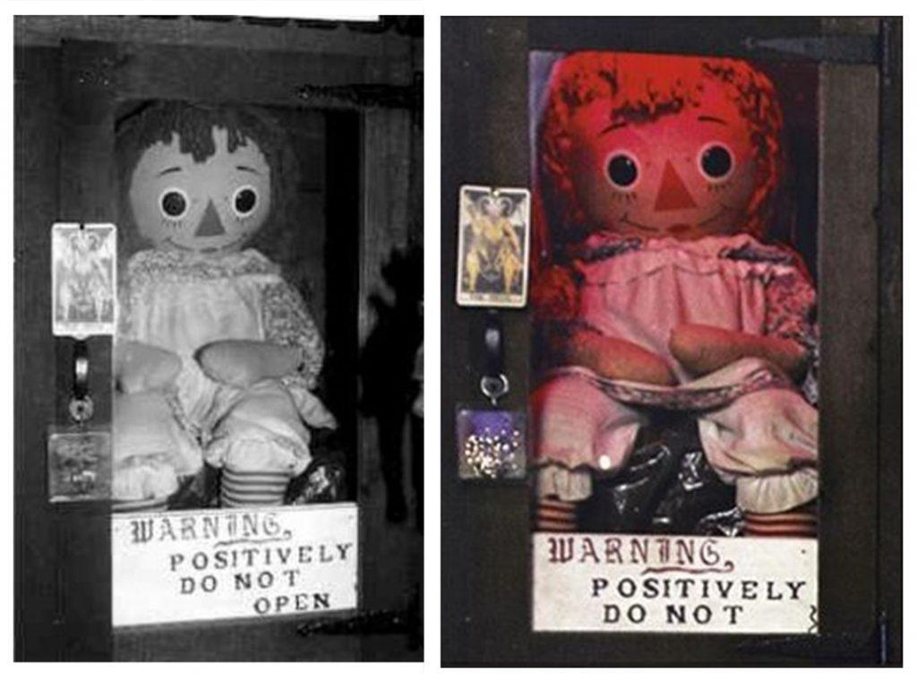 Annabelle con su advertencia de no abrir (Foto: Warren Files)