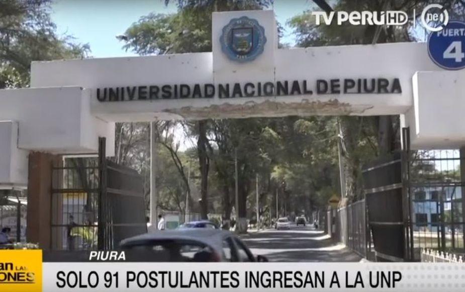 Unos 2700 jóvenes postulan a la Universidad Nacional de Piura, pero solo ingresan 91