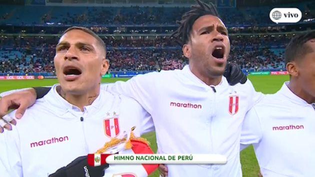 Perú vs. Chile: la emotiva entonación del himno en el Arena do Gremio previo a duelo de Copa América | VIDEO