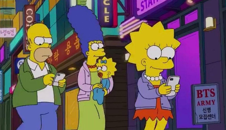 Los Simpson incluyen a BTS en uno de sus capítulos   VIDEO