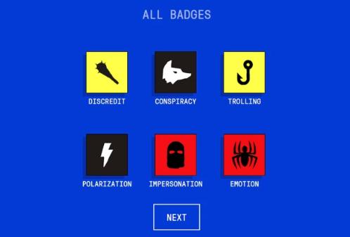 Las 6 escudos que se puede ganar al dominar las técnicas de desinformación. (Foto: Captura)