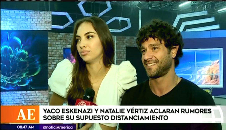Yaco Eskenazi y Natalie Vértiz se pronunciaron sobre los rumores de su separación   VIDEO