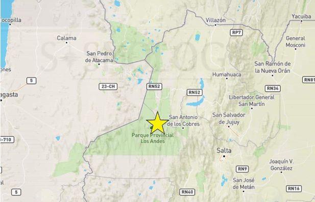 Chile: Sismo de magnitud 5,2 se registró en la parte del norte del país