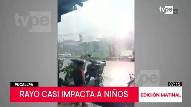 Pucallpa: captan momento en que rayo cae cerca a menores | VIDEO - Publimetro Perú