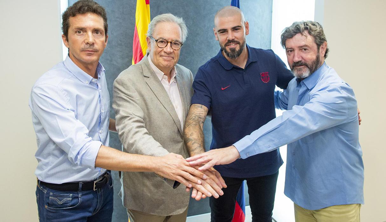 Barcelona anunció el regreso del exportero Víctor Valdes como entrenador del Juvenil A