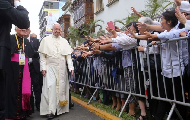 Francisco en Lima: cerrarán hoy Plaza de Armas y calles adyacentes desde 01:00 p.m.