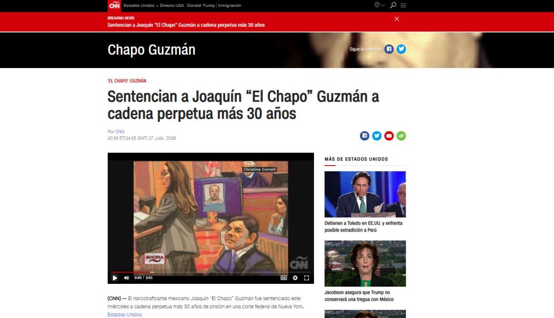 Así informó el mundo la condena a 'El Chapo' Guzmán en EE.UU. | FOTOS