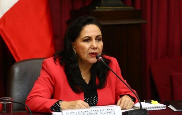 Ministra de la Mujer hace llamado a la conciencia a congresistas que evalúan caso Pedro Chávarry