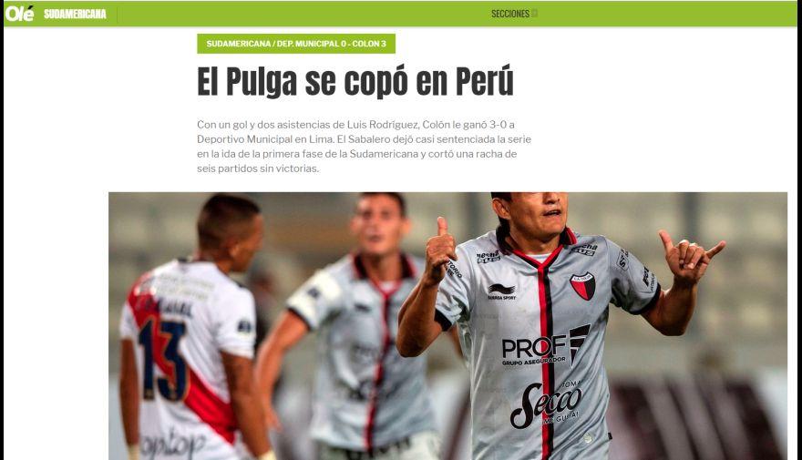 Deportivo Municipal vs. Colón: así informaron los medios internacionales tras goleada del 'Sabalero' | FOTOS