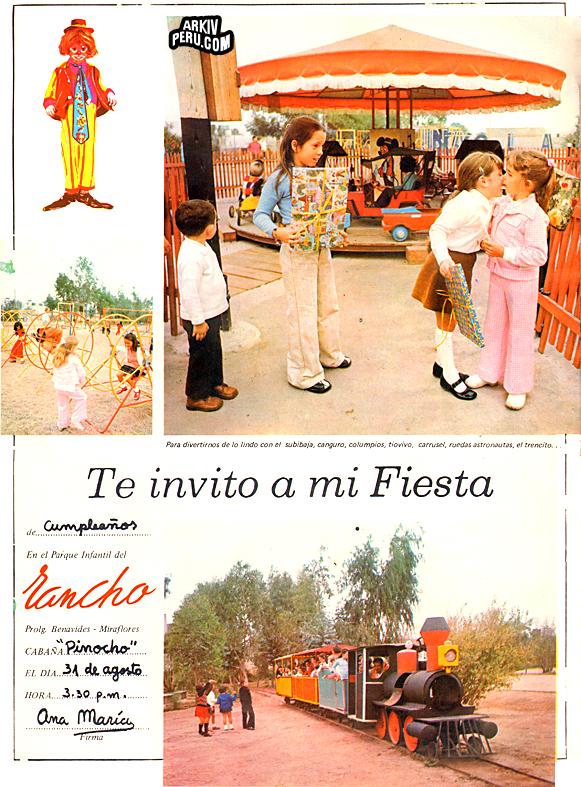 Celebrar tu fiesta de cumpleños aquí, era todo un lujo. (Foto: Arkiv Peru)
