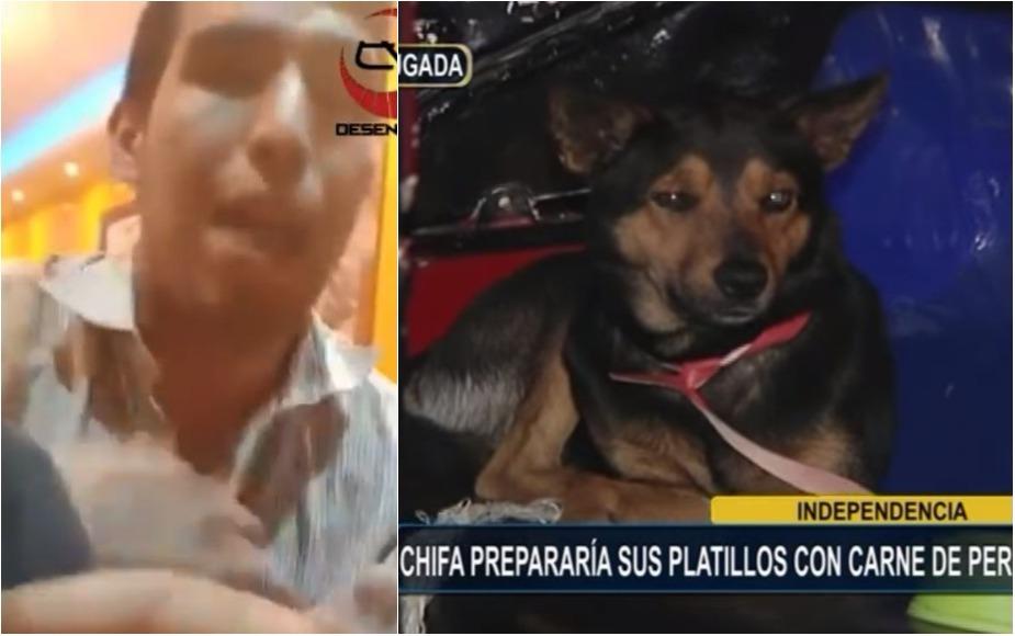 VIDEO: Así se justifica trabajador de chifa donde encontraron carne de perro