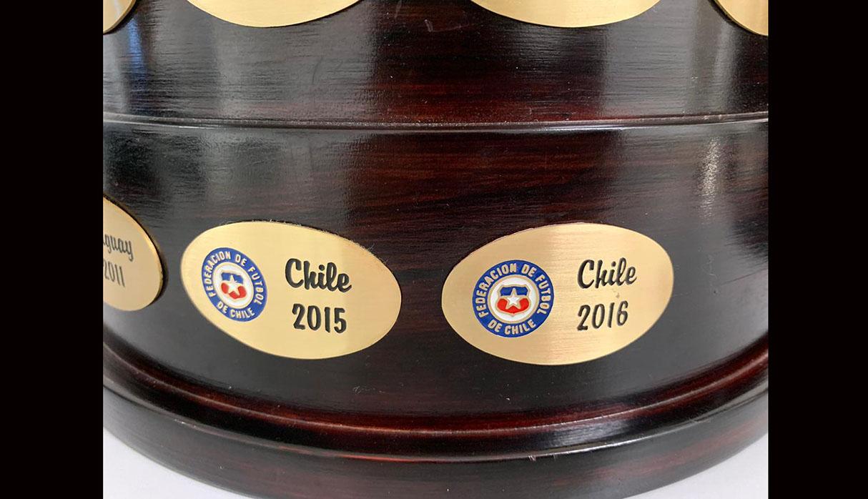 Copa América: Conmebol agrega a la copa el título de Chile en 2016   FOTO