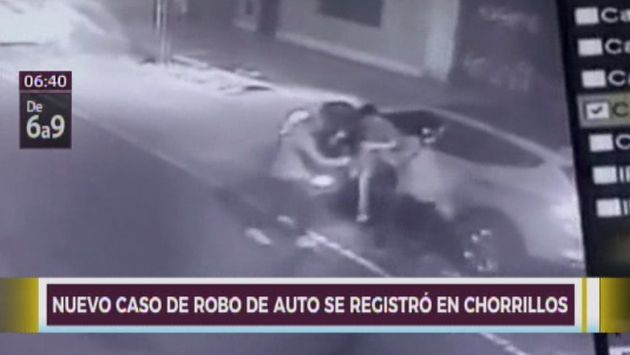 Chorrillos: graban a ladrones intentando robar vehículo a conductor