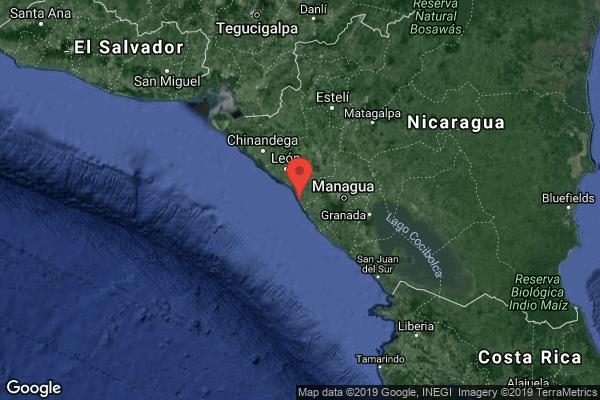 Sismo de magnitud 5.5 sacude costa del Pacífico en Nicaragua sin causar daños