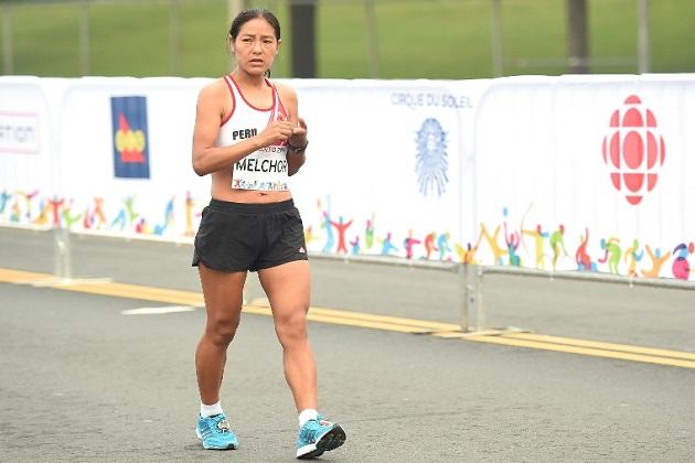Inés Melchor, la mejor latinoamericana en la maratón del Mundial de Atletismo