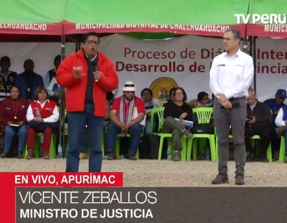 Ministro de Justicia instalará Dirección de Derechos Humanos para atender demandas de comuneros   VIDEO