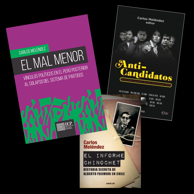 Junto a El mal menor, Meléndez es autor de El informe Chinochet y Anticandidatos. Además, ha publicado diversas investigaciones. (Difusión)