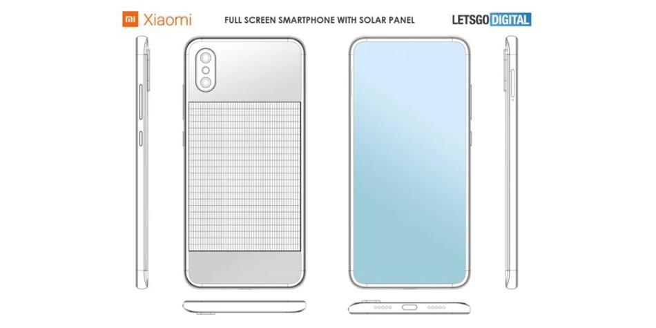 Así podría ser el smartphone de Xiaomi que es capaz de cargarse usando la energía solar. (Foto: LetsGo Digital)
