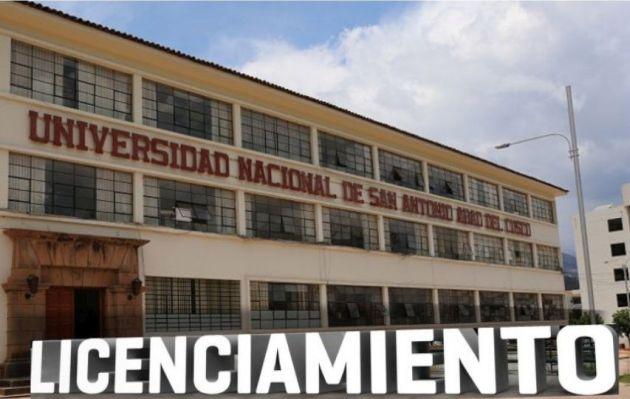 Sunedu otorga licencia institucional a Universidad Nacional de San Antonio Abad