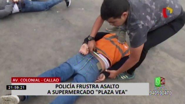Callao: Policía frustra asalto a supermercado por parte de banda delincuencial