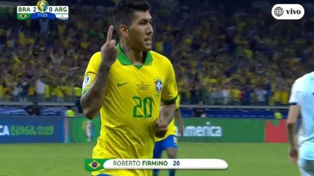 Argentina vs. Brasil: Roberto Firmino anotó gol y firmó el 2-0 por Copa América 2019 | VIDEO